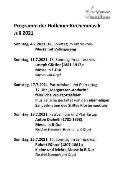 Programm Kirchenmusik - Juli 2021-1